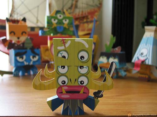 Japanese Monster Papercrafts - Shu no bon