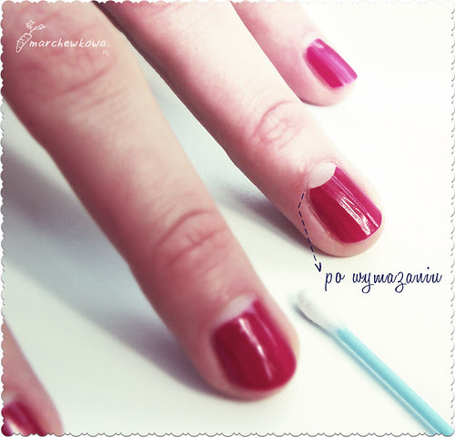 szafiarka, marchewkowa, vintage, retro, Half-moon manicure