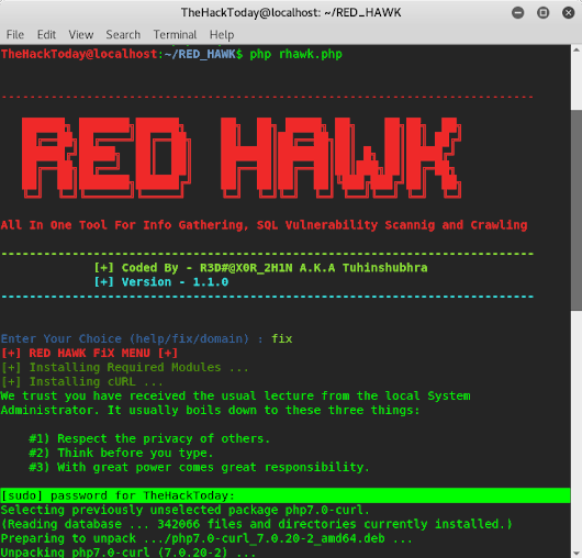 How to do Reconnaissance and Vulnerability Scan Using Red Hawk