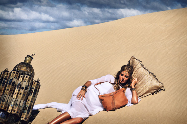 Sand Dune Fashion Shoot, Love & Luck Handbags, Persia