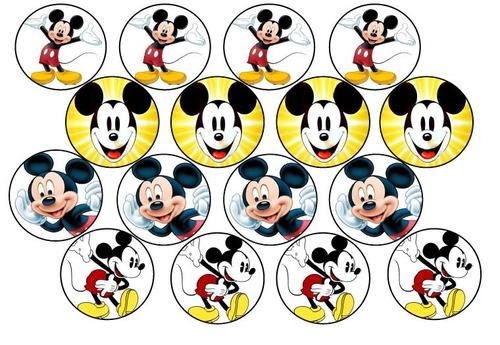 Cake Decorating Mickey Mouse Edible Picture Cupcake Toppers
