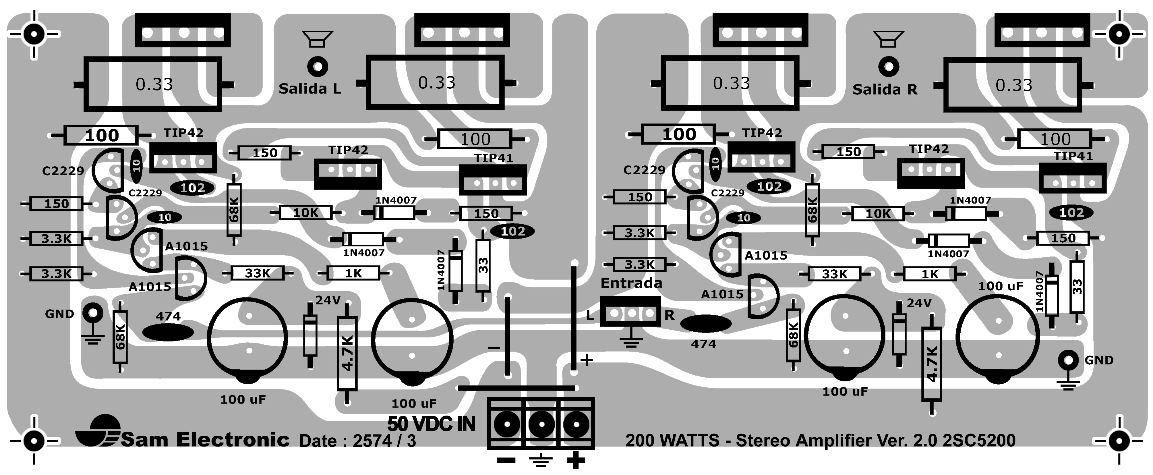 Pcb Amplifier - Circuit Diagram Images