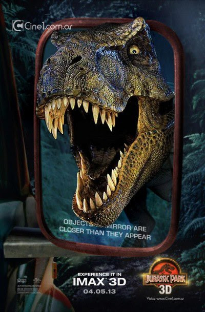 Jurassic Park 3D poster redo<br />Generic T-rex replaced with JP version by Chris Festo via Dan's JP3 Page.