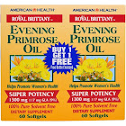 American Health Royal Brittany Evening Primrose Oil Twin Pack - 1300 mg