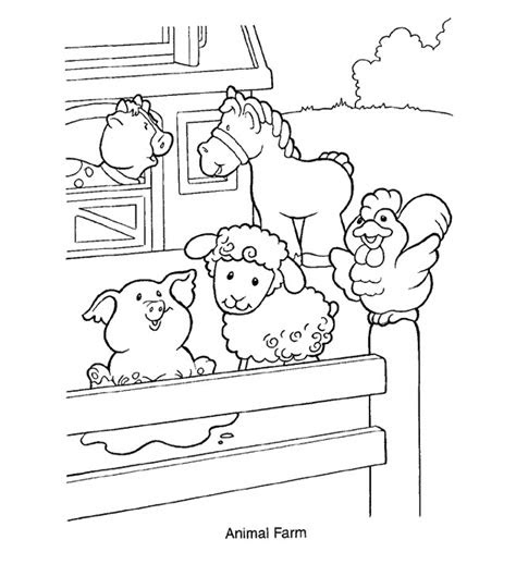 printable farm animal coloring pages  kids
