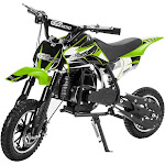 Xtremepowerus 49cc 2-Stroke Gas Power Mini Pocket Dirt Bike Dirt Off Road Motorcycle Ride-On, Green