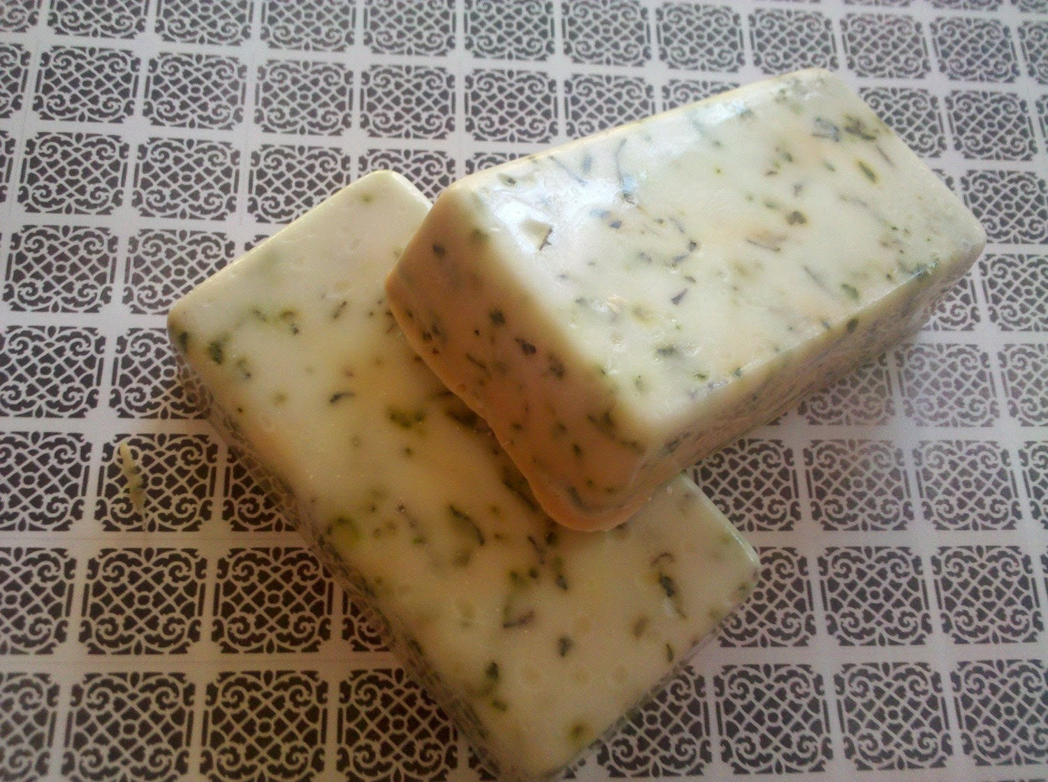 Lemon Verbena olive oil goats milk  Soap Soothing Skin