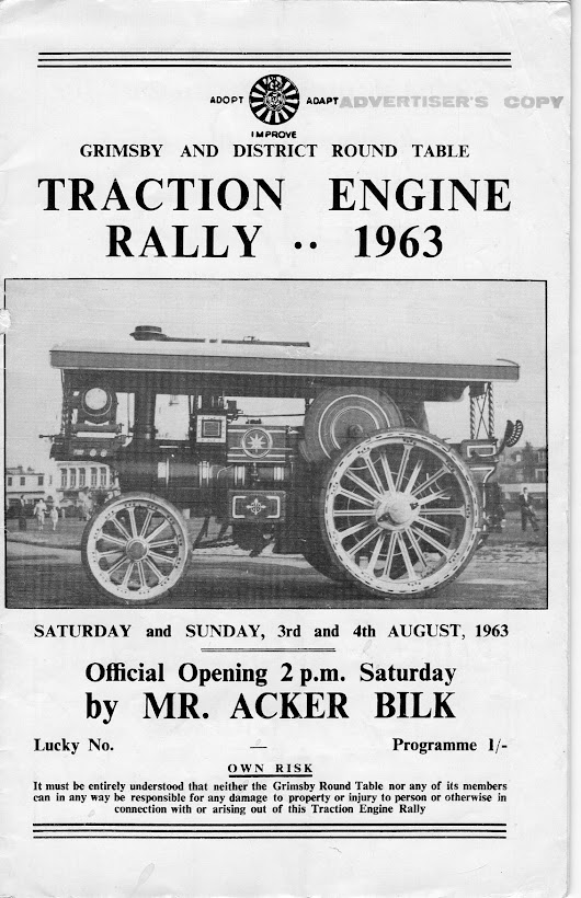 Grimsby & District Round Table Traction Engine Rally 1963