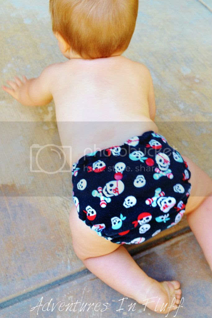 Poopsie Doodles One-Size Fitted Cloth Diaper - On my baby