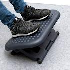 Mind Reader Adjustable Height & Tilt Foot Rest, Black