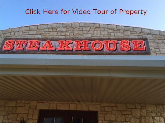 August 26th @11am Absolute Auction of Former Ranch House Steakhouse in Palestine, TX