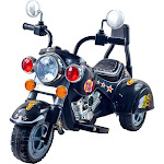 Lil' Rider Road Warrior Motorcycle, Black