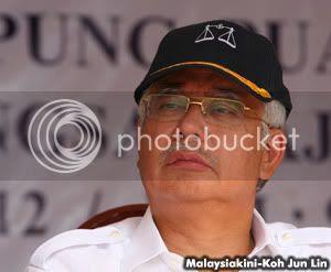 Najib Razak, image by Koh Jun Lin (Malaysiakini), hosting by Photobucket