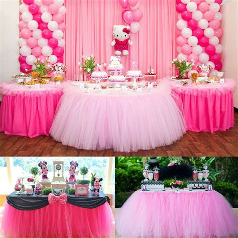 customized cm tutu tableware tulle table skirt party