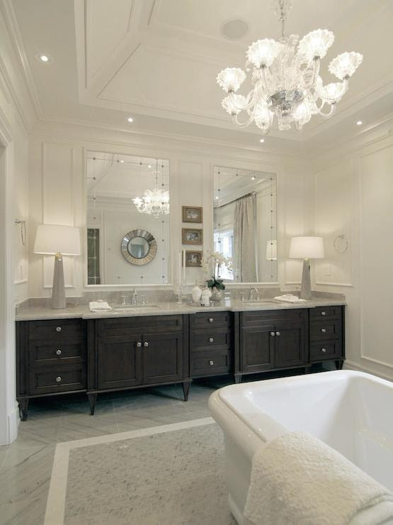 Dark Brown Double Vanity - Traditional - bathroom - Tomas ...