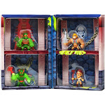 Masters of the Universe Eternia Minis Buzz Off, Zodac, He-Man & Teela 2-Inch Mini Figure 4-Pack [Slime Pit]