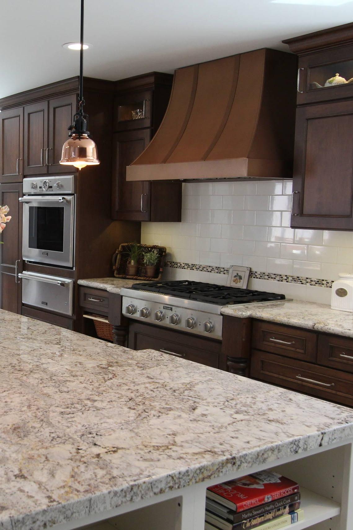 38 Popular White Granite Countertops Dark Cabinets