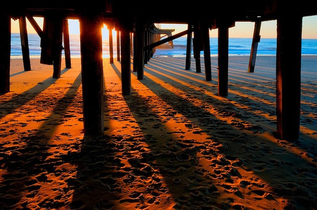 Sunrise from under Claremont Pier Lowestoft, England - my home.