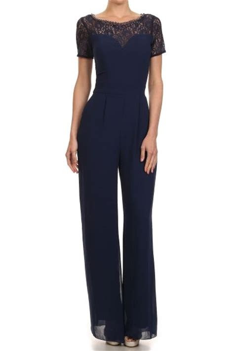 navy short sleeve full length wide leg jumpsuit jumpsuit