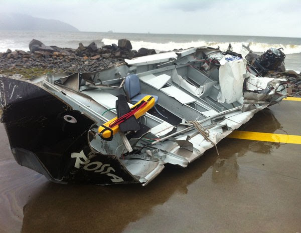 Câmeras de monitoramento localizam barco desaparecido em Santos (Foto: Tatyana Jorge/TV Tribuna)