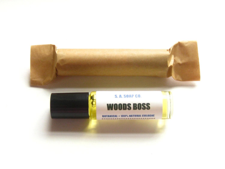 Mens Woods Boss Cologne Oil // Botanical Natural // Organic Jojoba // Essential Oils // Woodsy Forest