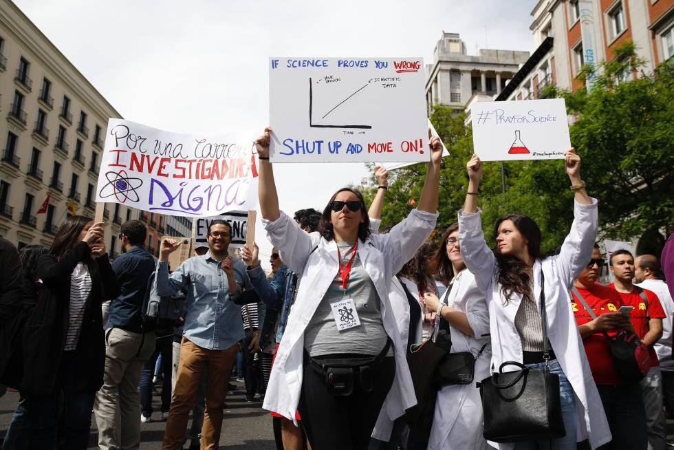 Marcha por la Ciencia en Madrid.