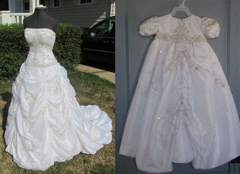 I convert your wedding dress into a christening gown! On