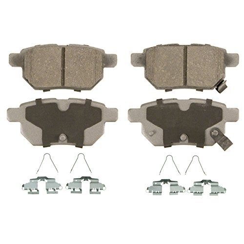 Rear Wagner ThermoQuiet QC1391 Ceramic Disc Pad Set With Installation Hardware