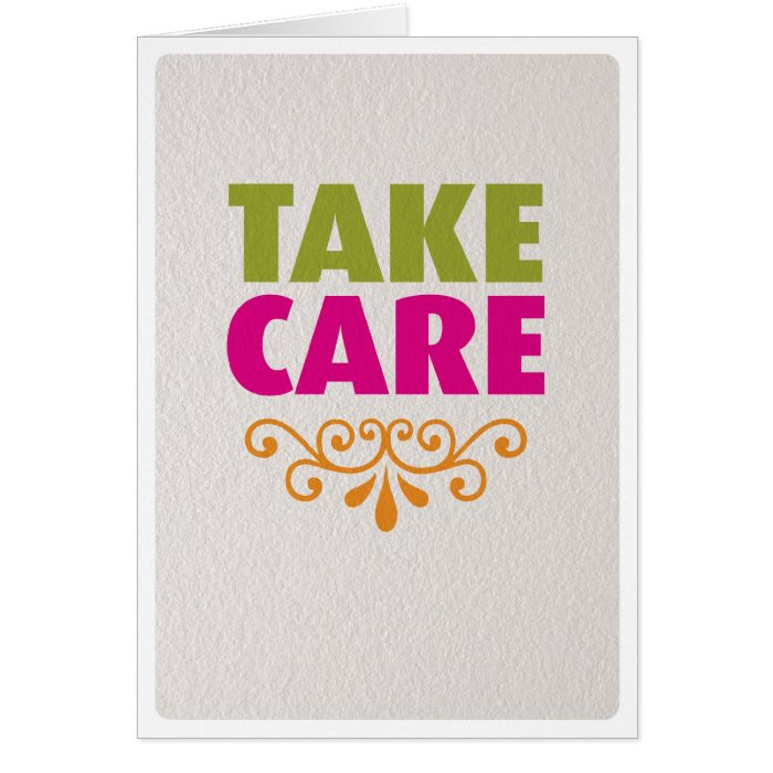 Take Care Get Well Soon Card On Popscreen