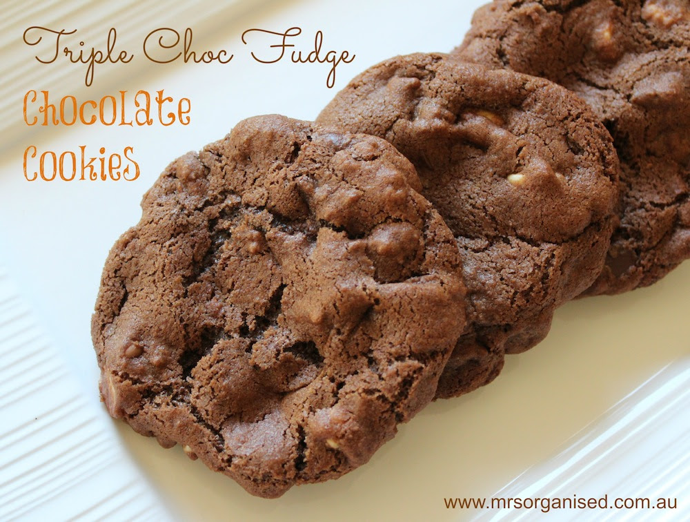 Triple Chocl Fudge Chocolate Cookies 001