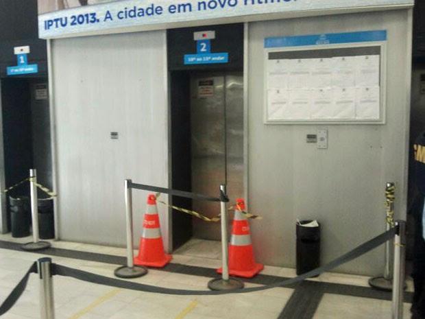 Equipamento foi interditado após o acidente (Foto: Katherine Coutinho / G1)