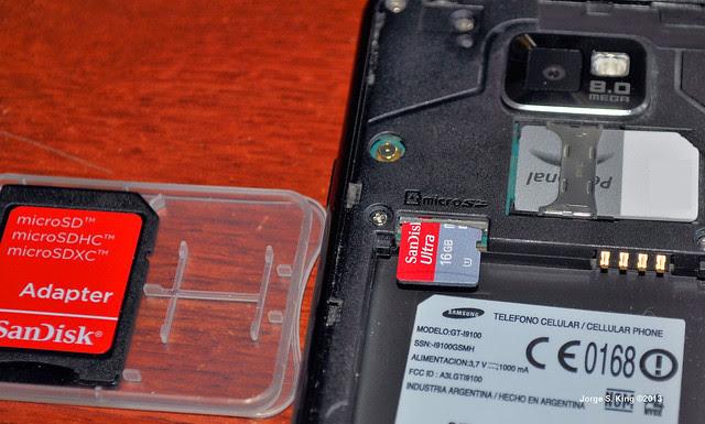 microSD en el smartphone