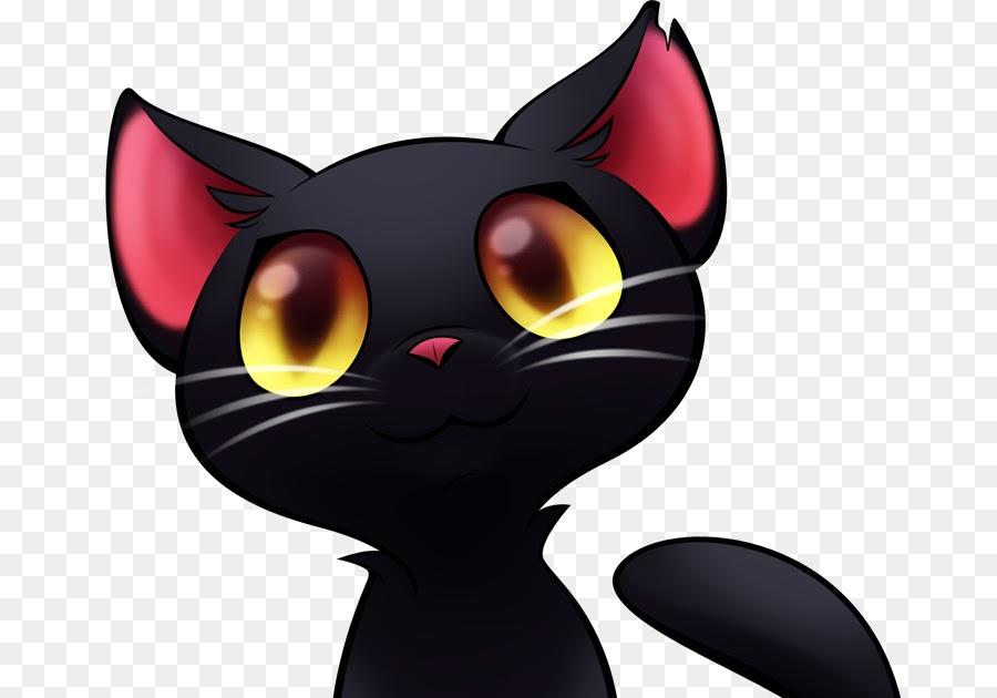 Gambar Animasi Kucing Hitam - Gambar Animasi Keren