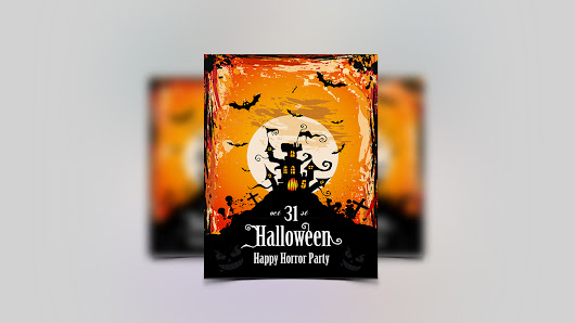 Design an awesome HALLOWEEN PARTY FLYER + UNLIMITED REVISIONS + PRINT READY for £25