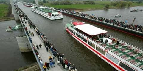 Jembatan Air Unik Magdeburg di Jerman