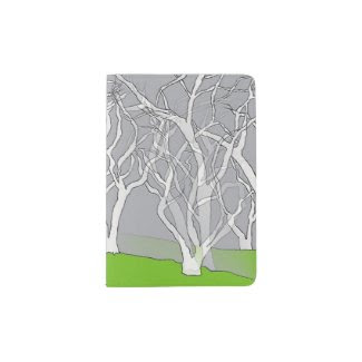 White Trees Design on Passport Holder
