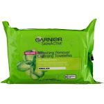 Garnier SkinActive Clean+ Refreshing Remover Cleansing Towelettes, Peppermint, 25 Ct