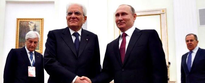 """Siria, Putin a Mattarella: """"Raid Usa come nel 2003 in Iraq. Su armi chimiche pronte nuove provocazioni per incolpare Assad"""""""