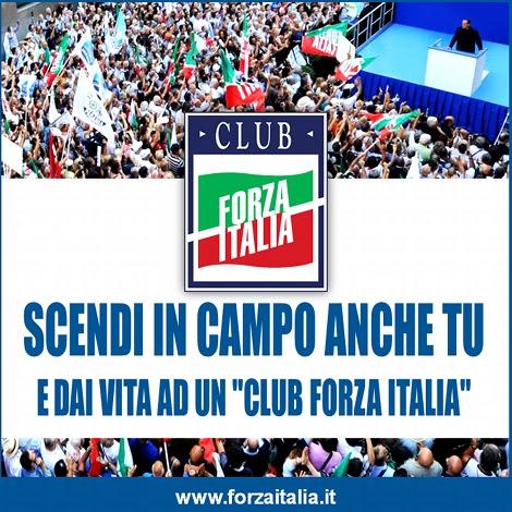 Scendi in campo anche tu e dai vita ad un Club Forza Italia