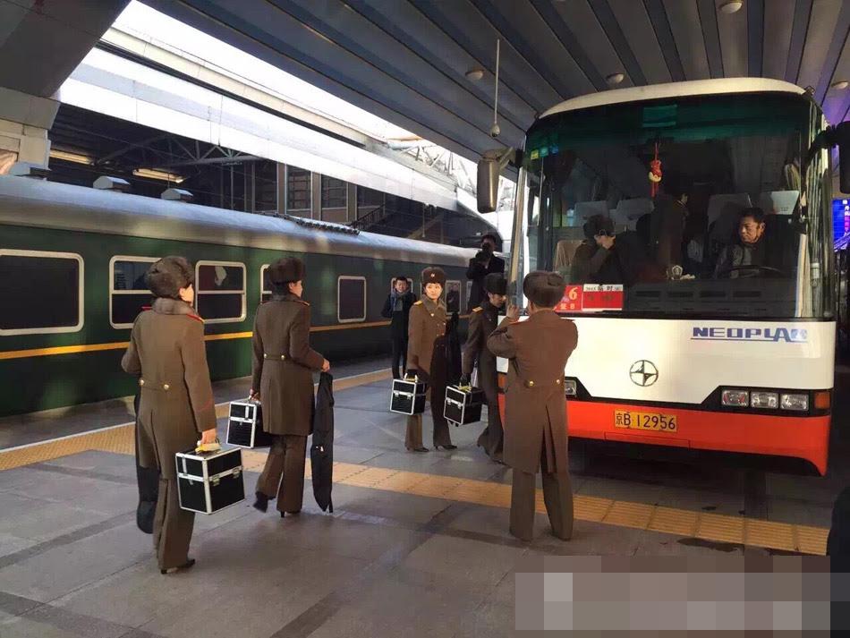 Hình ảnh Những hình ảnh đầu tiên của đoàn giao lưu Triều Tiên tại thủ đô Bắc Kinh số 1