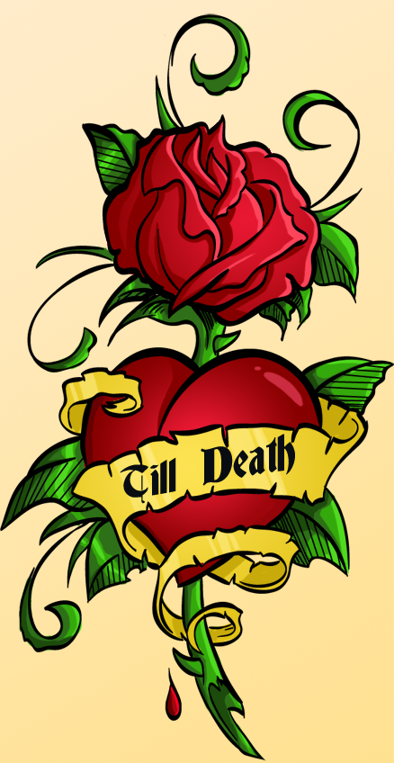 Heart And Rose Tattoo Designs Tattoos Design Ideas Clipartsco