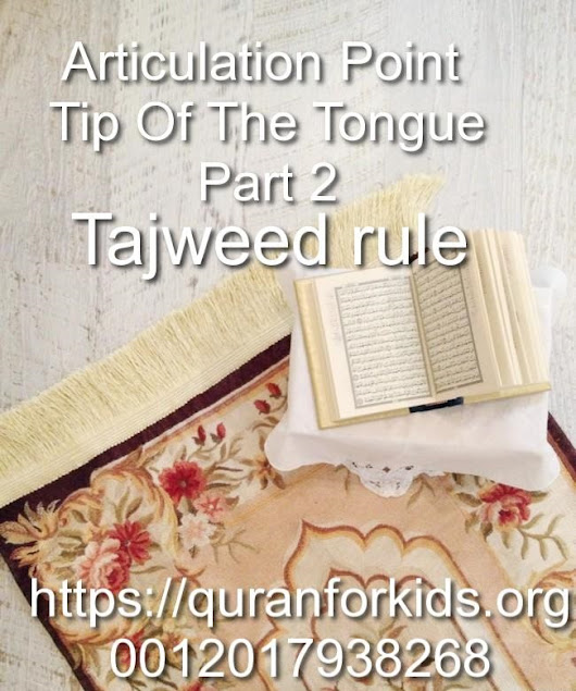 Articulation Point Tip of the Tongue part 2 - Tajweed rule