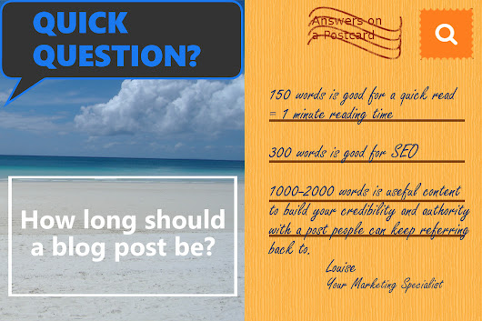 How Long Should a Blog Post Be? | Your Marketing Specialist