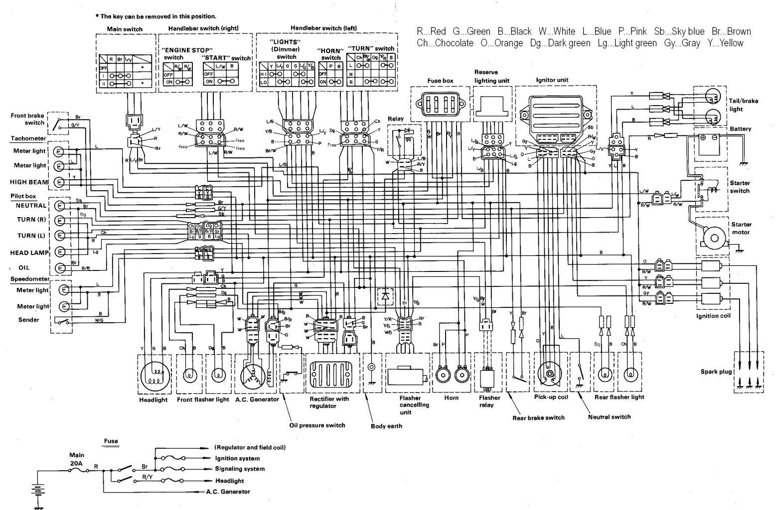 Yamaha 1600 Wiring Diagram