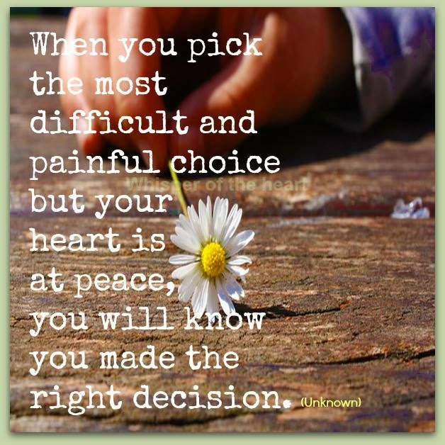 Quotes About Right Decision 152 Quotes