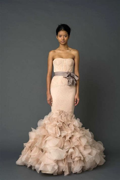 Wedding Dress Trends: Pink A Boo!   Pretty Peacock Paperie