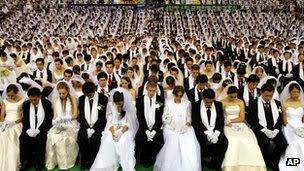 A mass wedding in 2005