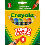 Crayola Jumbo - Crayon - assorted colors - pack of 8