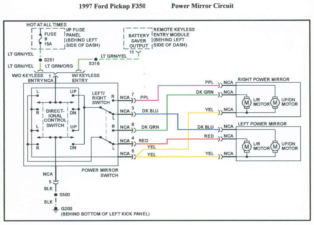 1996 power mirror wiring diagram ? - Ford F150 Forum ...