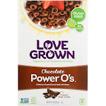 Love Grown Foods Cereal - Power Os - Chocolate - 10 Ounce -PACK 6